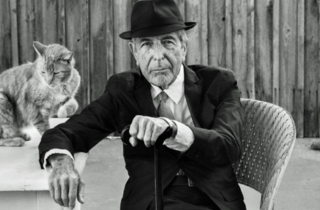 Leonard Cohen with Cat